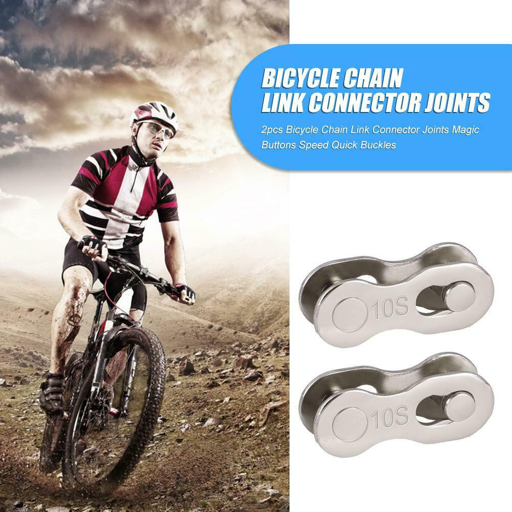 2pcs Bicycle Chain Connector Lock Quick Link Mountain Road Bike Magic Buckle Par