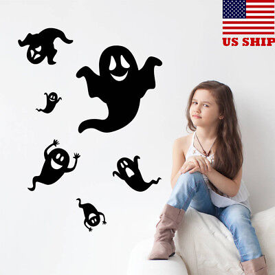 US! Halloween Ghost Wall Sticker Removable Scary Wall Decals Home Party Decor - Halloween Wall Decorations
