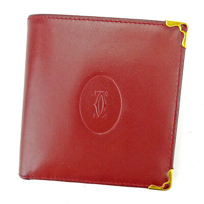 Auth Cartier Bifold WalletMust Line Men