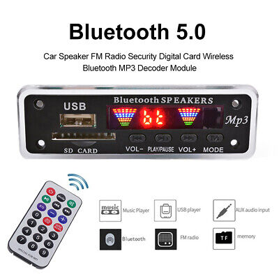 Bluetooth 5.0 MP3 Decoder Board Audio Module USB AUX TF FM Radio for Car Cheap Business & Industrial