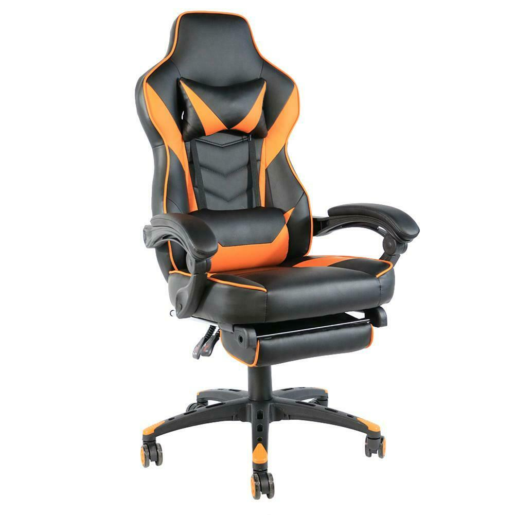 gaming chair racing leather office recliner computer