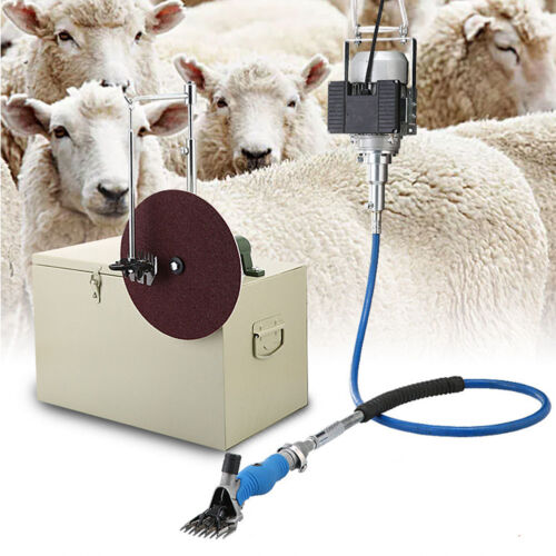 220V 360°Rotate Electric Sheep Shears Clippers Alpaca Cow Powerful Shearing