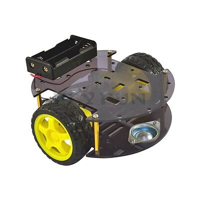 Round Smart Robot Gear Motor Car Chassis For Arduino New