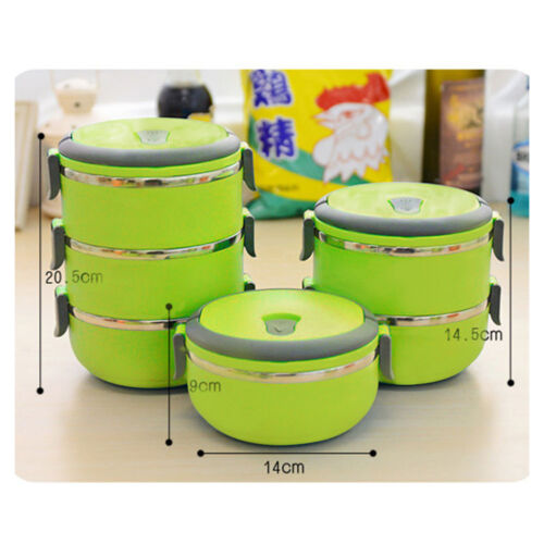 stainless steel thermal insulated lunch box bento picnic food storage container. Black Bedroom Furniture Sets. Home Design Ideas