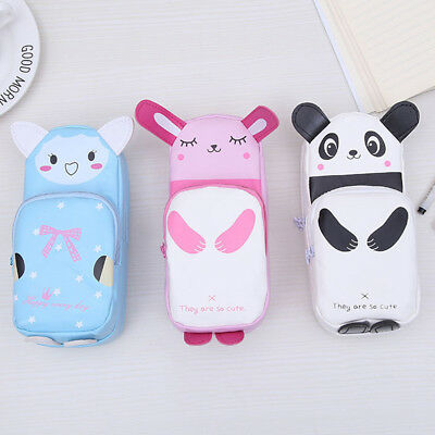 Cute Cartoon Pencil Case Students Lovely Panda Storage Makeup Pen Bag -