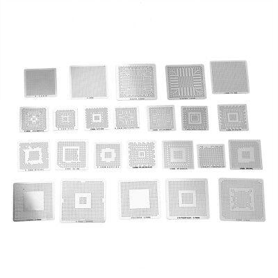 130pcs Bga Reball Reballing Rework Net Universal Stencil Directly Heat Set Kit