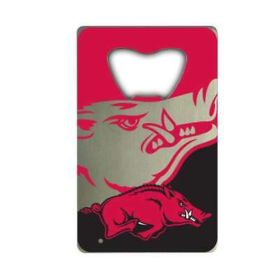 - Arkansas Razorbacks Steel Credit Card Bottle Opener