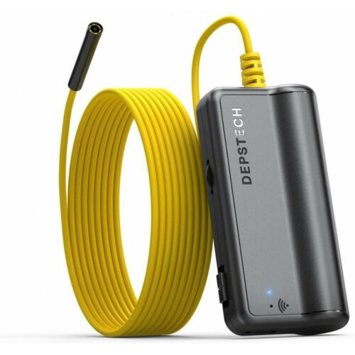 DEPSTECH Wireless Endoscope 5.0MP HD Inspection Camera Semi-Rigid Borescope