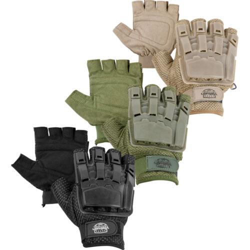 Valken V-TAC Half Finger Padded Fingerless Airsoft / Paintball Tactical Gloves