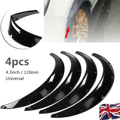 """4pcs 4.3""""/110mm Universal Car Fender Flares Extra Wide Body Wheel Arches"""