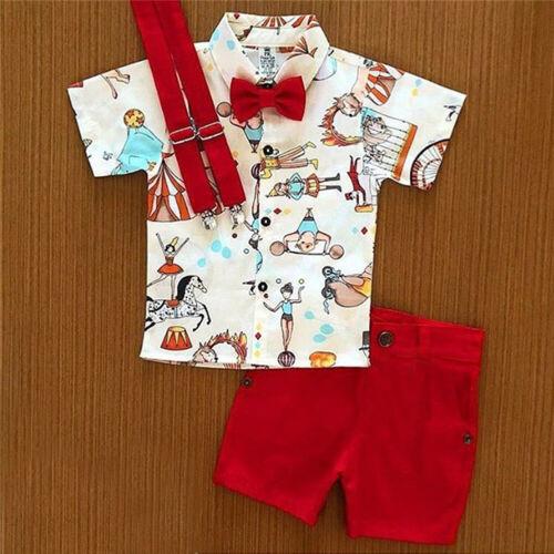 US Toddler Kid Baby Boy T-Shirt Short Shorts Pants Outfits C