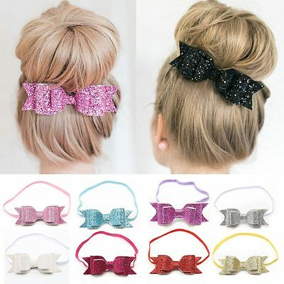 Kids  Baby Headband Bow Flower Hair Band Accessories Headwear Elastic ame