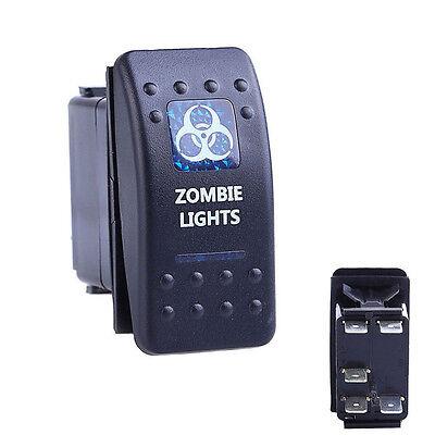 5 Pin Zombie Lights Spst Onoff Rocker Switch Blue Led Light Dc 24v 12v Sale