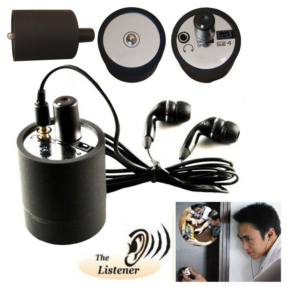 Ear Listen Through Wall Device SPY Monitor Bug Eavesdropping Microphone Listener