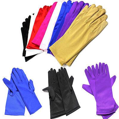 Satin Evening Gloves (Women Short Wrist Gloves Smooth Satin Party Dress Prom Evening Wedding US)