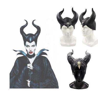 Halloween Frauen Maleficent Evil Hörner Cosplay Schwarz Kopfbedeckung Hut - Maleficent' Kostüm Hörner