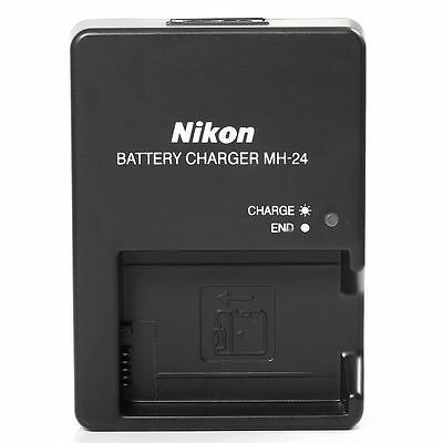 New MH-24 Battery Charger for Nikon  EN-EL14 P7100 P7000 D5100 D3100 D3200