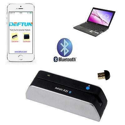 MSRX6BT Bluetooth Mini Magnetic Stripe Credit Card Reader Writer MSR206 MSR605