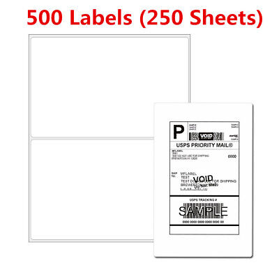 8.5x5.5 500 Half Sheet Self Adhesive Mailing Shipping Labels For Usps Premium