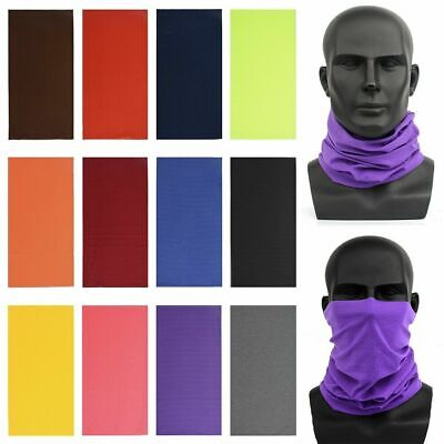 Multi-use Tube Scarf Bandana Head Face Mask Neck Gaiter Snood Headwear Beanie