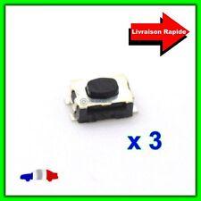 3 Boutons Poussoirs Switch pour Télécommande Coque Plip Clé Peugeot  Citroën