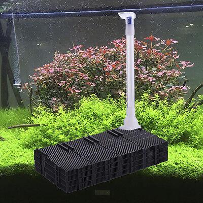 20Pcs Aquariums Fish Tank Bottom Plastic Undergravel Filter Plate Black Tool Kit