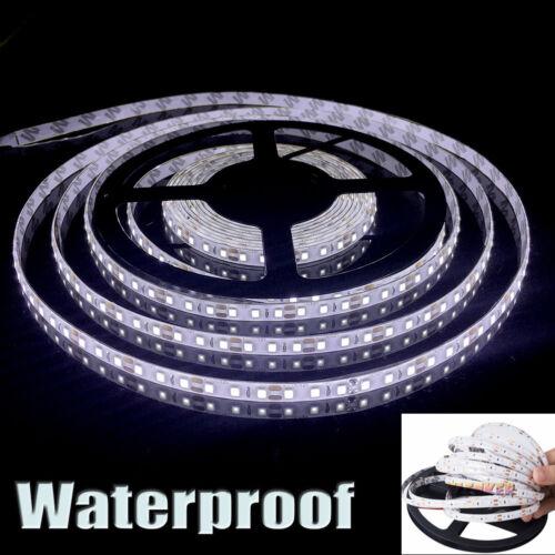12V 5M 3528 Waterproof LED Strip Light 600leds For Boat Truck Car Suv Rv White