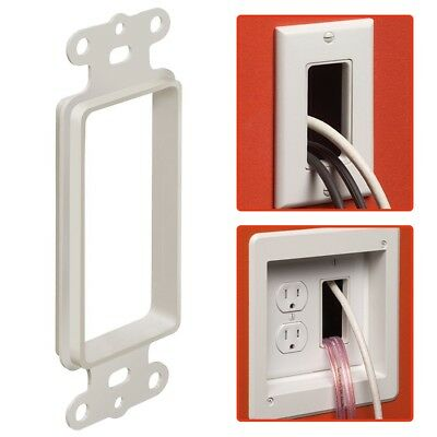 Open Decora Wall Plate Insert Low Voltage HDMI Audio Video Cable Pass Arlington Wall Plate Insert