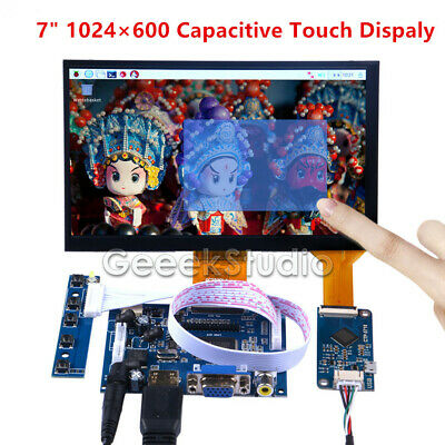 7 Inch 1024600 Capacitive Touch Screen Lcd Display Diy Kit For Raspberry Pi