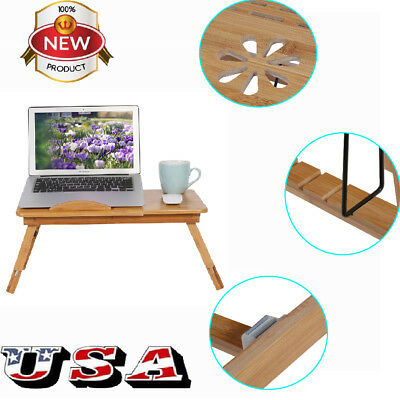 Laptop Table Desk Stand Lap Sofa Bed Tray Computer Notebook Adjustable PC Table