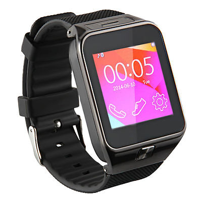 New Smart Wrist Watch Phone Mate Bluetooth For Android IOS Samsung iPhone Black