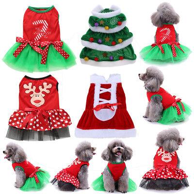 Santa Christmas Female Dog Dress Puppy Cat Coat Winter Clothes Pet Party Costume](Female Santa)