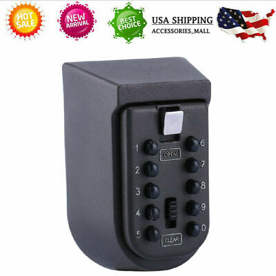 Wall Mount Combination Key Lock Box Security Storage Case Organizer Realtor