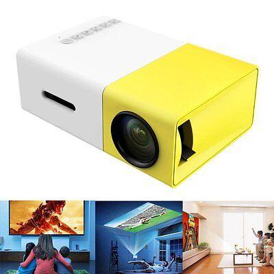 Lumi Full HD Mini Ultra Handheld Projector with USB/SD/AV/HDMI White / Yellow