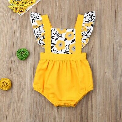 Fashion Sweet Newborn Baby Girl Floral Romper Bodysuit Jumpsuit Clothes Outfits - Sweet Girl