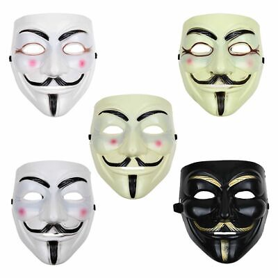 Anonymous Hacker V For Vendetta Guy Games Master Fancy Dress Halloween Face Mask](Fancy Dress For Guys)