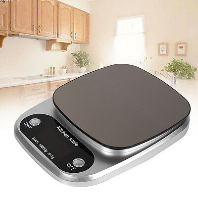 10Kg/g Digital Electronic Kitchen Food Diet Postal Scale Weight Balance LB:OZ ML