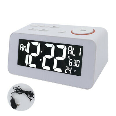 Digital Alarm Clock FM Digital Radio Clock with Dual Alarms Dual USB Charge Port