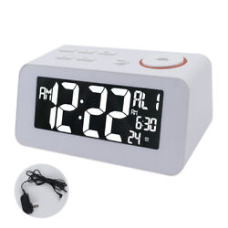 Digital Alarm Clock FM Digital Radio Clock with Dual Alarms Dual USB Charge Port
