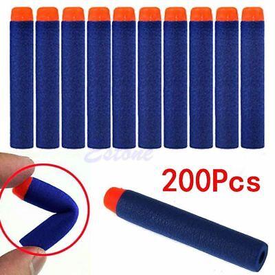 200pcs 7.2cm Refill Bullet Darts for Nerf N-strike Elite Series Blasters Toy USA