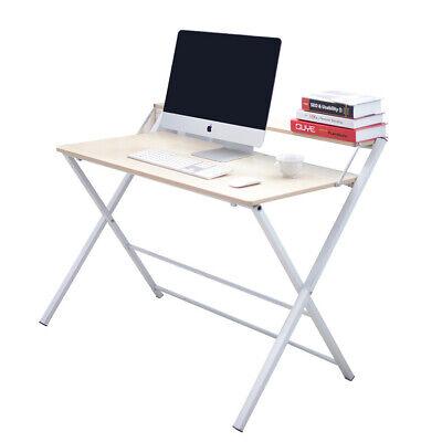 Foldable Computer Desk Home Office Study Workstation Folding Laptop PC Table UK