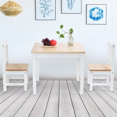 2 Seater Dining Table And Chairs Breakfast Kitchen Room Small Furniture Set 2