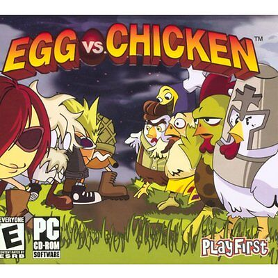 Egg vs Chicken PC Games Windows 10 8 7 XP Computer puzzle casual game NEW ()