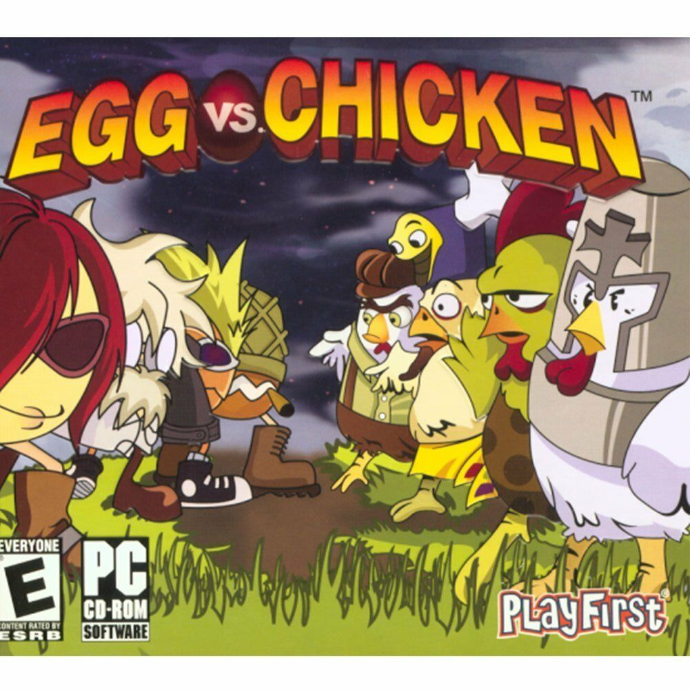 Computer Games - Egg vs Chicken PC Games Windows 10 8 7 XP Computer puzzle casual game NEW