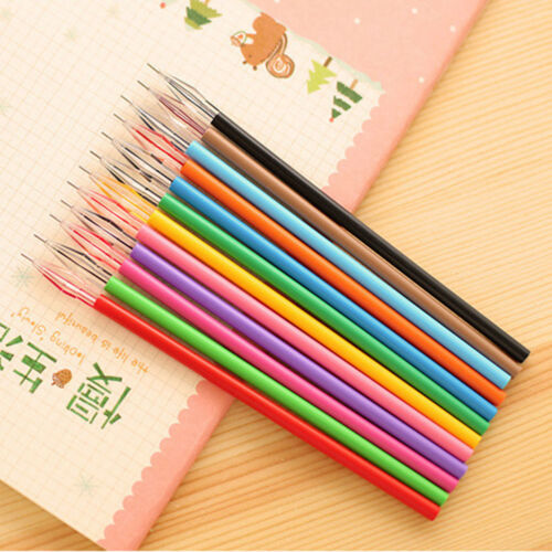 12pc/Set Colorful Gel Ink Pen Refills Stationery Office School Supplies Novelty
