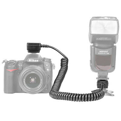Neewer 9.8 feet TTL Off Camera Flash Speedlite Sync Shoe Cord for Nikon