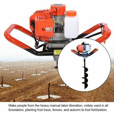 52cc 2-stroke Earth Auger Gas Powered Post Hole Digger Machine Power Engine Head