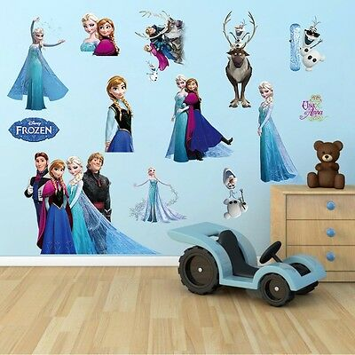 Home Decoration - DISNEY FROZEN Elsa Anna Wall Stickers Decal Removable Home Decor Kids Art Mural
