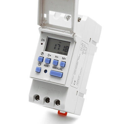Digital Lcd Programmable Timer Dc 12v Din Rail Time Relay Switch Power