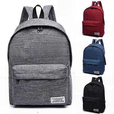 Canvas Back Pack School Bag Rucksack Satchel For Teenagers G
